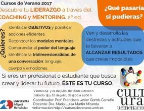Cursos Verano UMH_Coaching y Mentoring_14 a 22 julio 2017